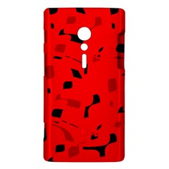 Red and black pattern Sony Xperia ion