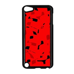 Red and black pattern Apple iPod Touch 5 Case (Black)