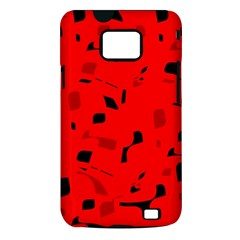 Red and black pattern Samsung Galaxy S II i9100 Hardshell Case (PC+Silicone)