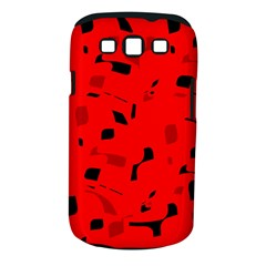 Red and black pattern Samsung Galaxy S III Classic Hardshell Case (PC+Silicone)