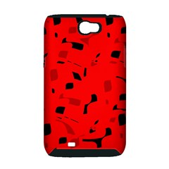 Red and black pattern Samsung Galaxy Note 2 Hardshell Case (PC+Silicone)