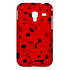 Red and black pattern Samsung Galaxy Ace Plus S7500 Hardshell Case