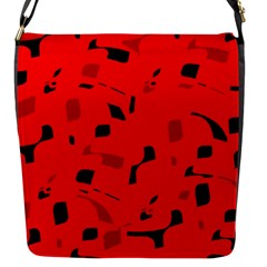 Red and black pattern Flap Messenger Bag (S)