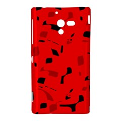 Red and black pattern Sony Xperia ZL (L35H)