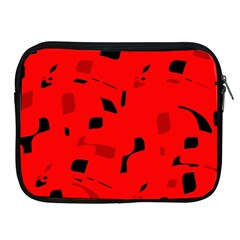 Red and black pattern Apple iPad 2/3/4 Zipper Cases