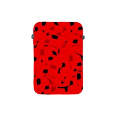 Red and black pattern Apple iPad Mini Protective Soft Cases
