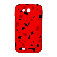 Red and black pattern Samsung Galaxy Grand GT-I9128 Hardshell Case