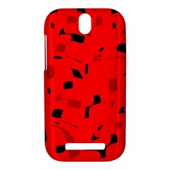 Red and black pattern HTC One SV Hardshell Case