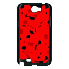 Red and black pattern Samsung Galaxy Note 2 Case (Black)