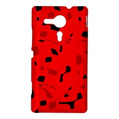 Red and black pattern Sony Xperia SP