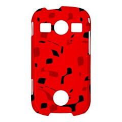 Red and black pattern Samsung Galaxy S7710 Xcover 2 Hardshell Case