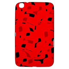 Red and black pattern Samsung Galaxy Tab 3 (8 ) T3100 Hardshell Case