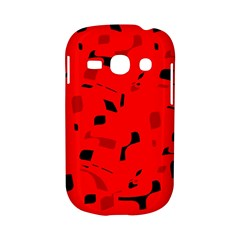 Red and black pattern Samsung Galaxy S6810 Hardshell Case