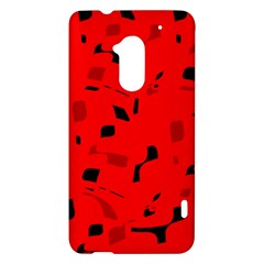 Red and black pattern HTC One Max (T6) Hardshell Case