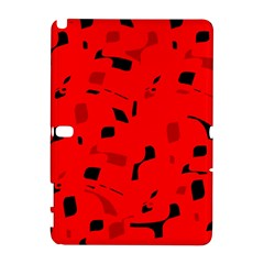 Red and black pattern Samsung Galaxy Note 10.1 (P600) Hardshell Case