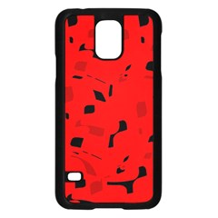 Red and black pattern Samsung Galaxy S5 Case (Black)