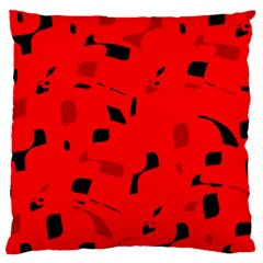 Red and black pattern Standard Flano Cushion Case (One Side)