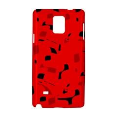Red and black pattern Samsung Galaxy Note 4 Hardshell Case