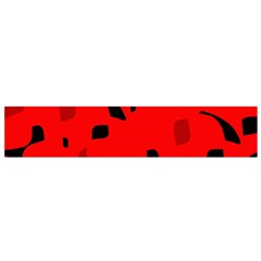 Red and black pattern Flano Scarf (Small)
