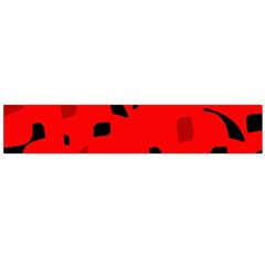Red and black pattern Flano Scarf (Large)
