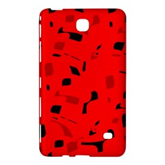 Red and black pattern Samsung Galaxy Tab 4 (7 ) Hardshell Case