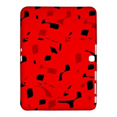 Red and black pattern Samsung Galaxy Tab 4 (10.1 ) Hardshell Case