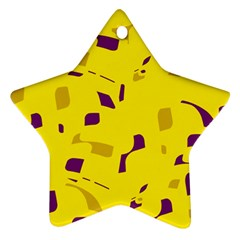 Yellow and purple pattern Ornament (Star)