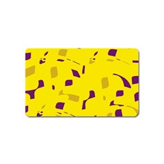 Yellow and purple pattern Magnet (Name Card)