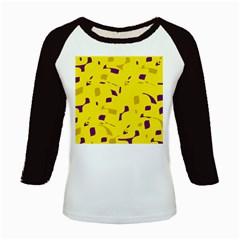 Yellow and purple pattern Kids Baseball Jerseys