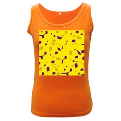 Yellow and purple pattern Women s Dark Tank Top
