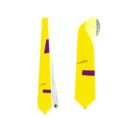 Yellow and purple pattern Neckties (One Side)