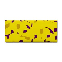 Yellow and purple pattern Hand Towel