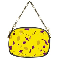 Yellow and purple pattern Chain Purses (One Side)