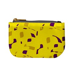 Yellow and purple pattern Mini Coin Purses
