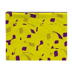 Yellow and purple pattern Cosmetic Bag (XL)