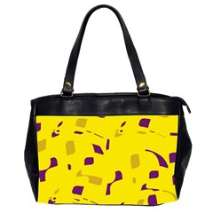 Yellow and purple pattern Office Handbags (2 Sides)