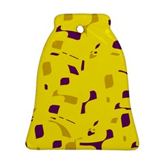 Yellow and purple pattern Ornament (Bell)