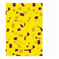 Yellow and purple pattern Small Garden Flag (Two Sides)