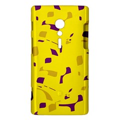 Yellow and purple pattern Sony Xperia ion