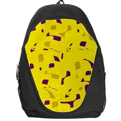 Yellow and purple pattern Backpack Bag