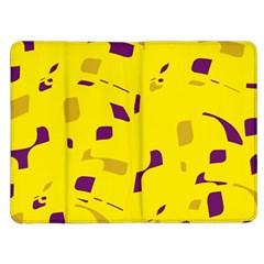 Yellow and purple pattern Kindle Fire (1st Gen) Flip Case