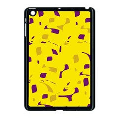 Yellow and purple pattern Apple iPad Mini Case (Black)