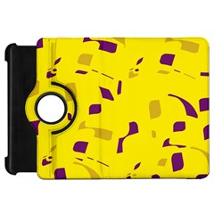 Yellow and purple pattern Kindle Fire HD Flip 360 Case