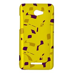 Yellow and purple pattern HTC Butterfly X920E Hardshell Case