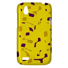 Yellow and purple pattern HTC Desire V (T328W) Hardshell Case