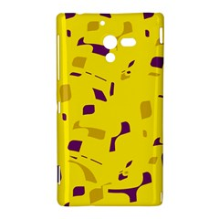 Yellow and purple pattern Sony Xperia ZL (L35H)