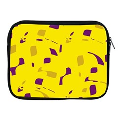Yellow and purple pattern Apple iPad 2/3/4 Zipper Cases