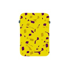 Yellow and purple pattern Apple iPad Mini Protective Soft Cases