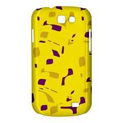Yellow and purple pattern Samsung Galaxy Express I8730 Hardshell Case