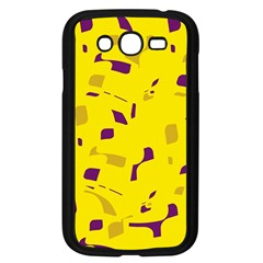 Yellow and purple pattern Samsung Galaxy Grand DUOS I9082 Case (Black)